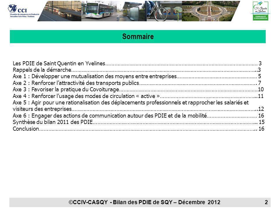 Sommaire Les PDIE de Saint Quentin en Yvelines………………………………………………………………………………………… 3.