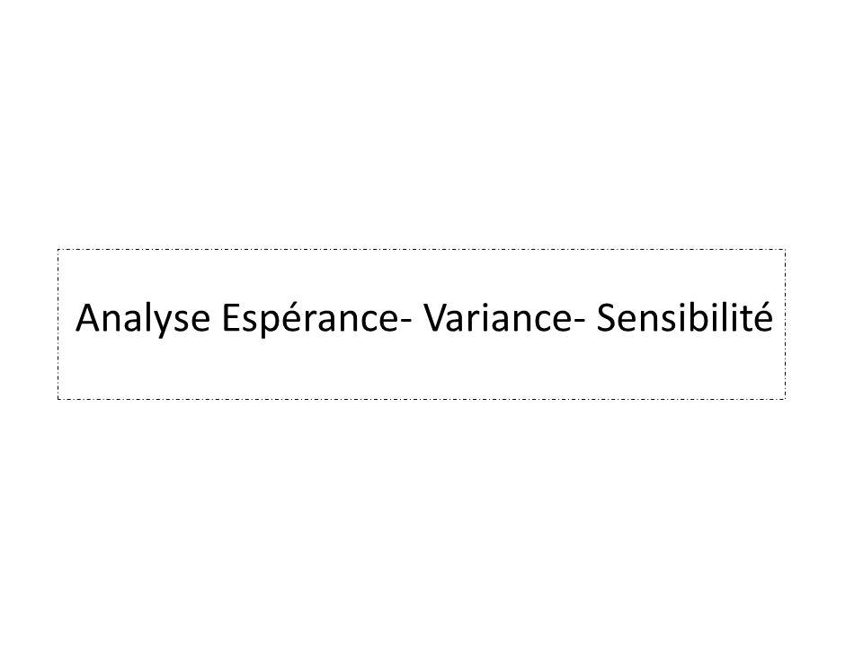 Analyse Espérance- Variance- Sensibilité