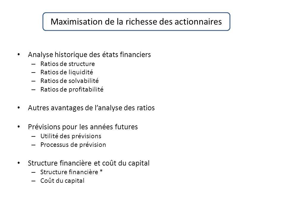 Maximisation de la richesse des actionnaires