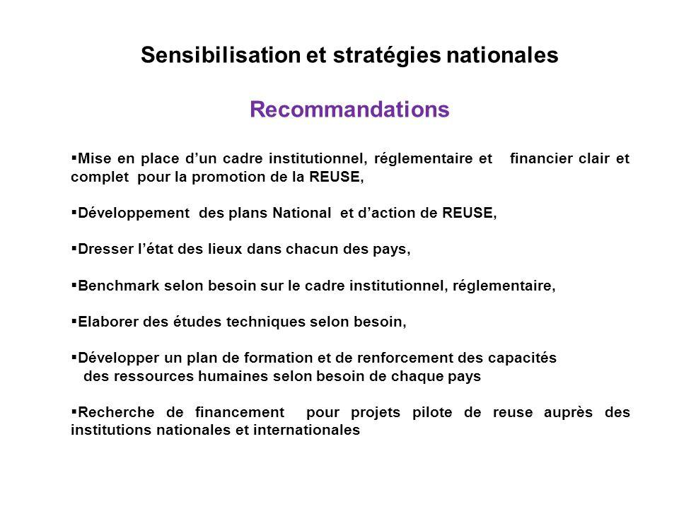 Sensibilisation et stratégies nationales