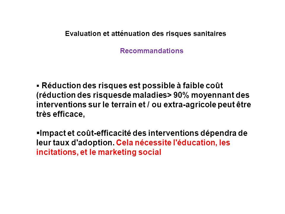 Evaluation et atténuation des risques sanitaires