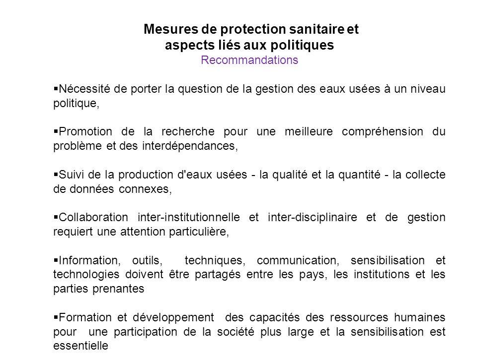 Mesures de protection sanitaire et aspects liés aux politiques