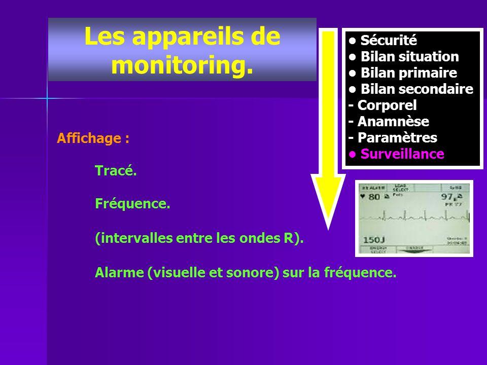 Les appareils de monitoring.