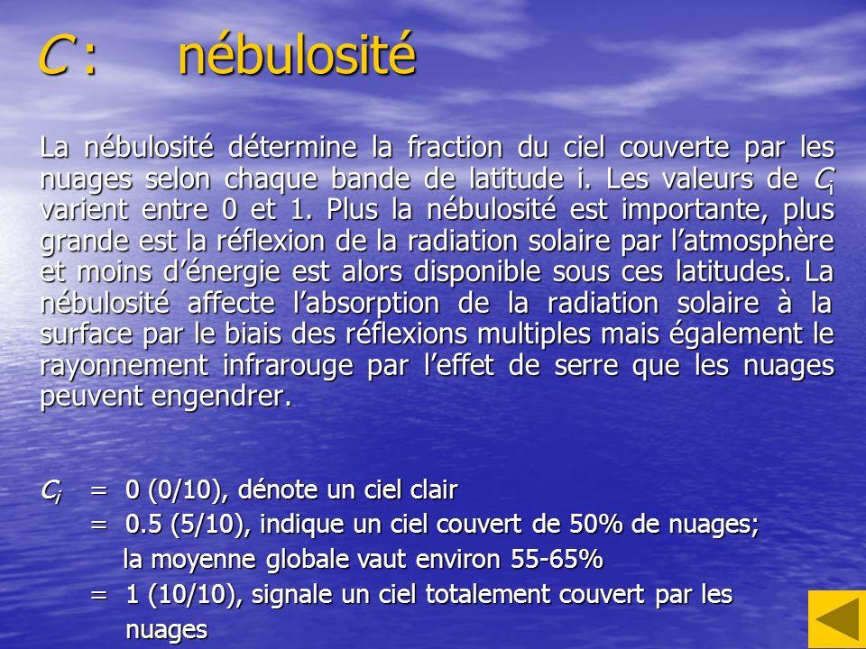 C : nébulosité