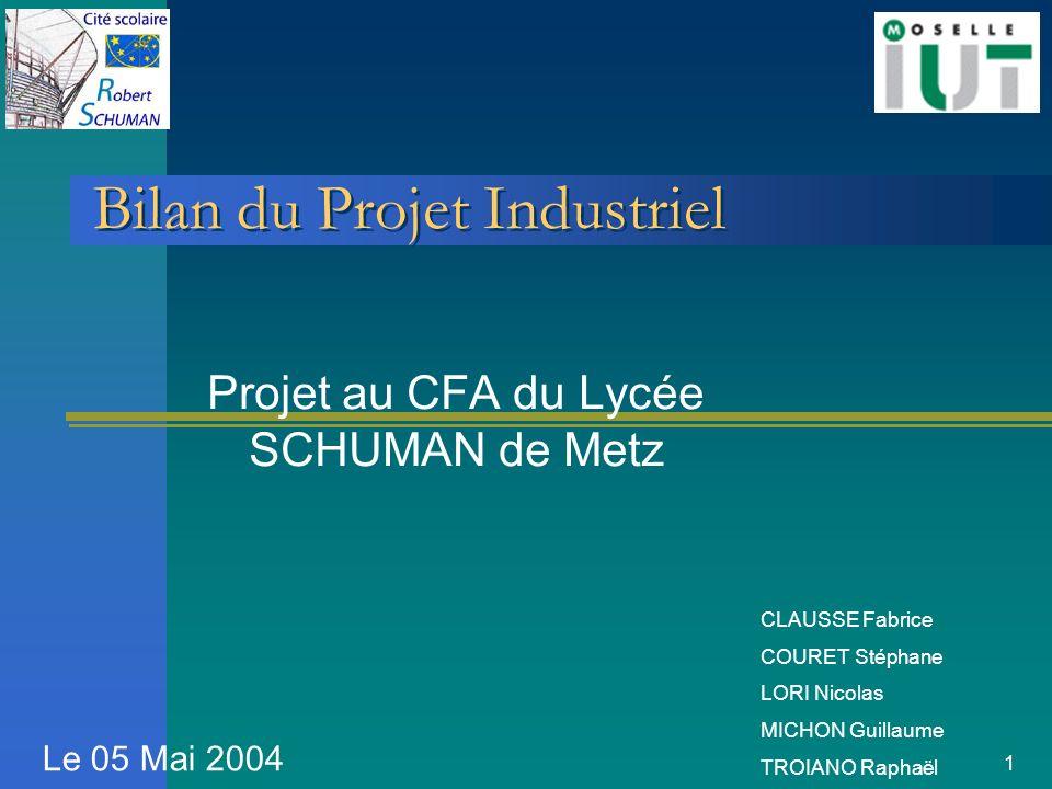 Bilan du Projet Industriel