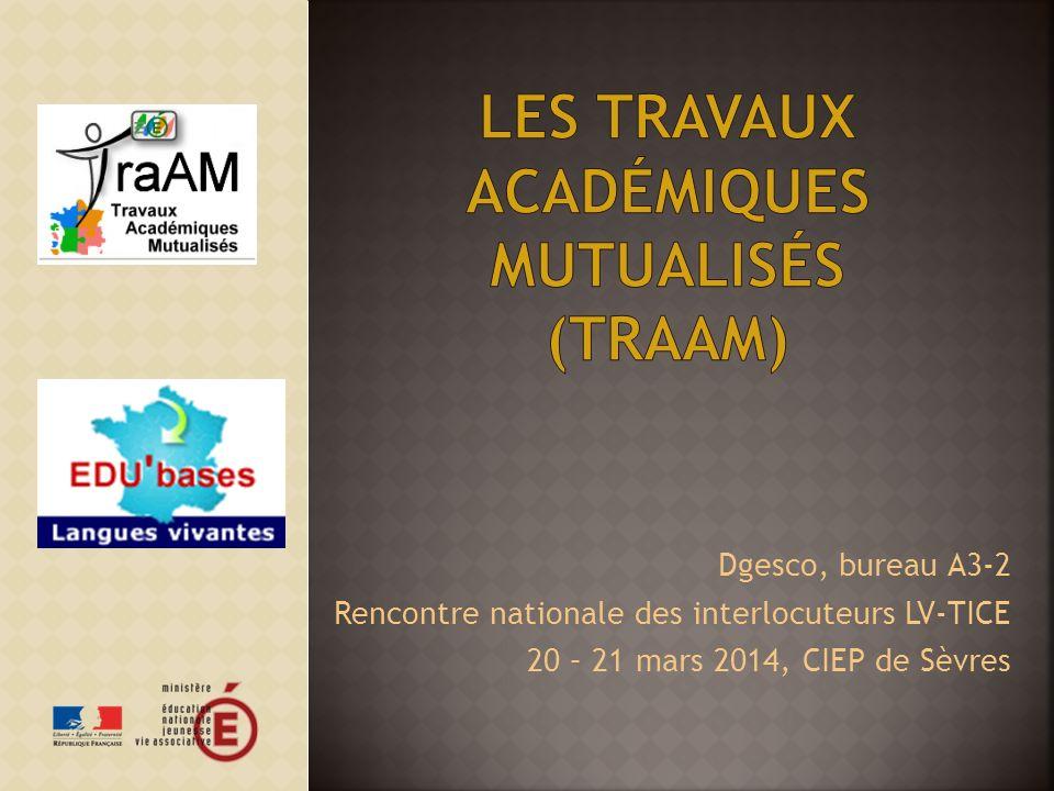 Les travaux académiques mutualisés (TraAm)