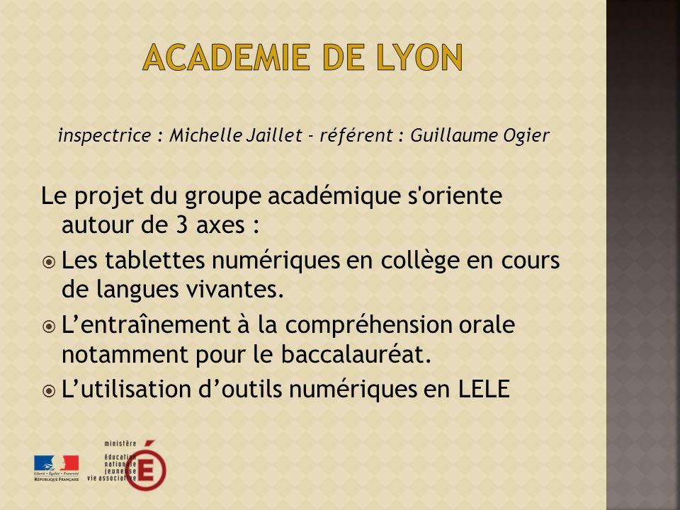 inspectrice : Michelle Jaillet - référent : Guillaume Ogier