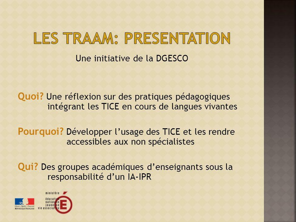 Les traam: presentation
