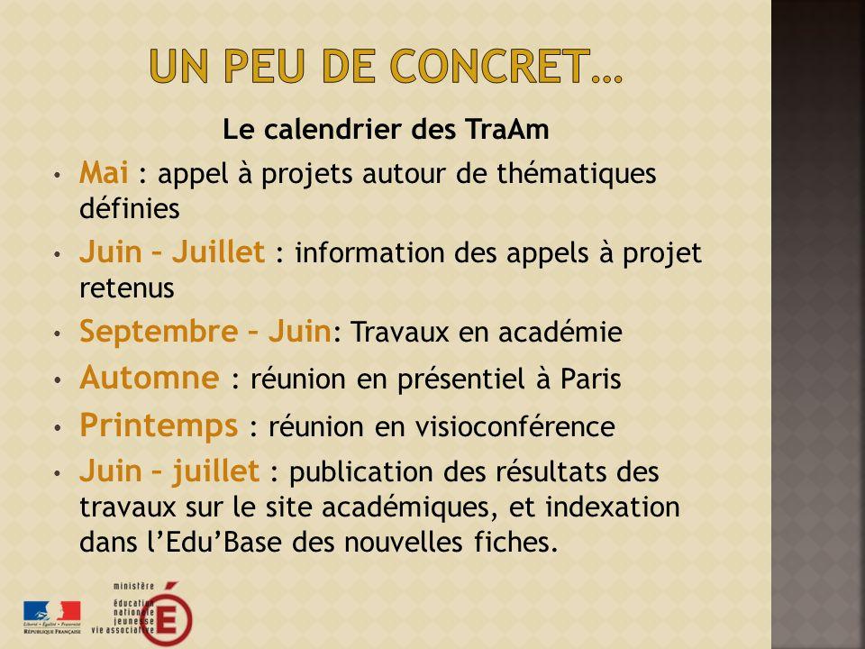 Le calendrier des TraAm