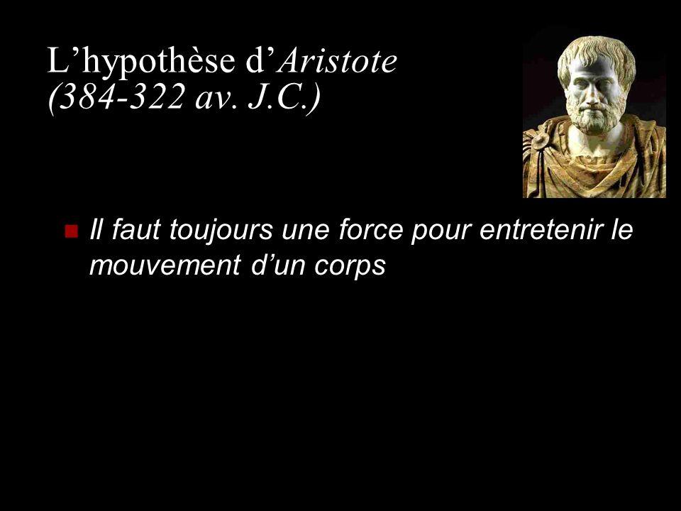 L'hypothèse d'Aristote (384-322 av. J.C.)
