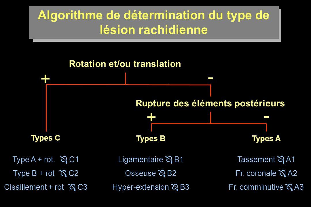 Algorithme de détermination du type de lésion rachidienne
