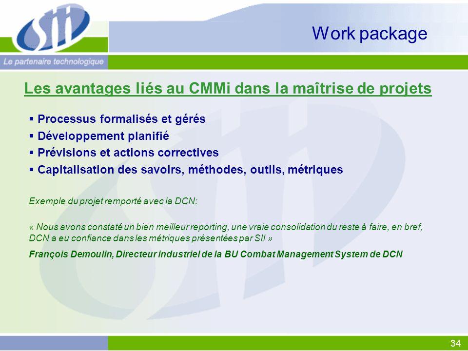 Les avantages liés au CMMi dans la maîtrise de projets