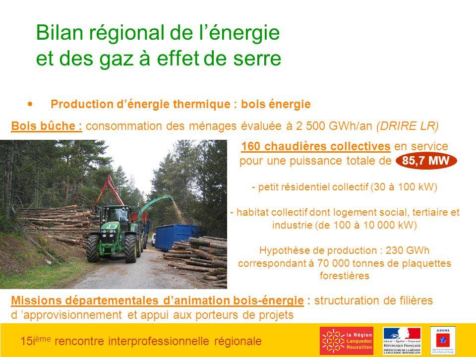 Bilan régional de l'énergie et des gaz à effet de serre