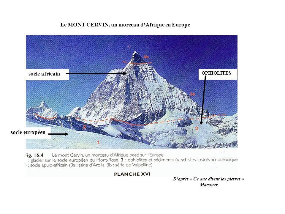 Le MONT CERVIN, un morceau d'Afrique en Europe