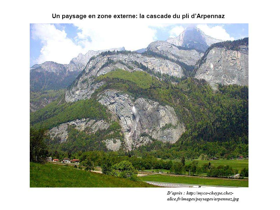 Un paysage en zone externe: la cascade du pli d'Arpennaz
