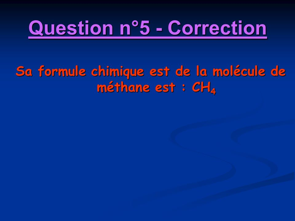 Question n°5 - Correction