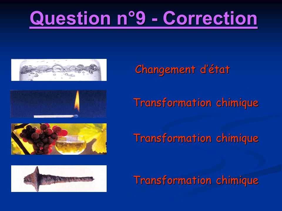 Question n°9 - Correction