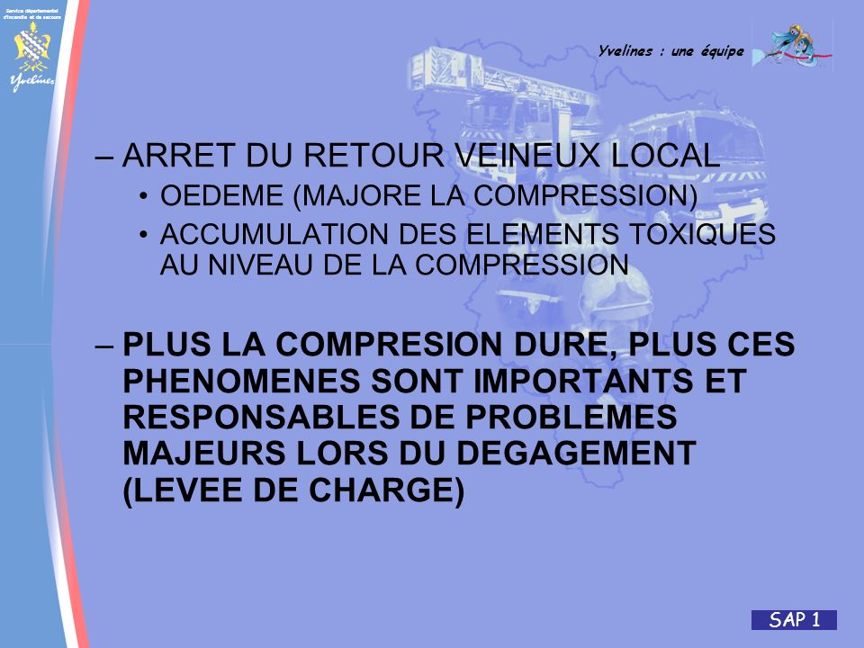 ARRET DU RETOUR VEINEUX LOCAL