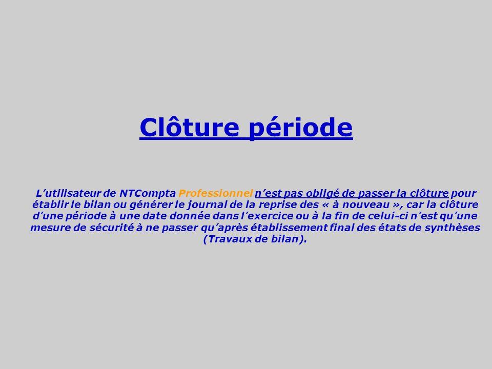 Clôture période