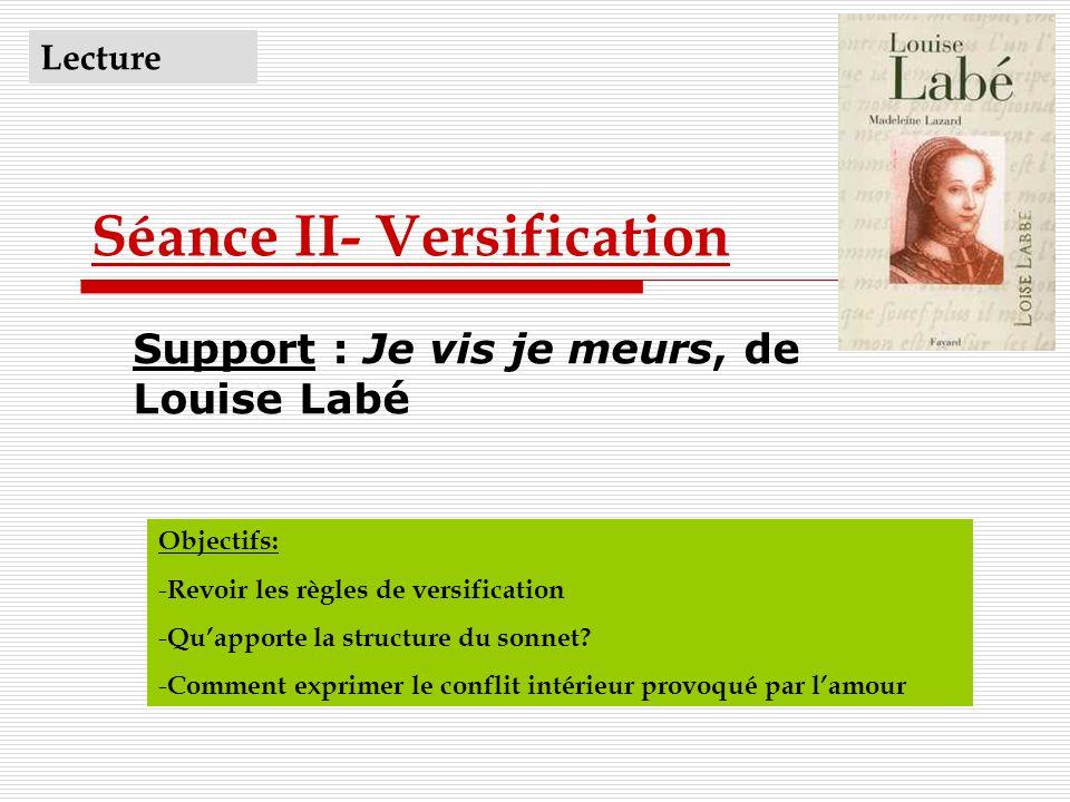 Séance II- Versification