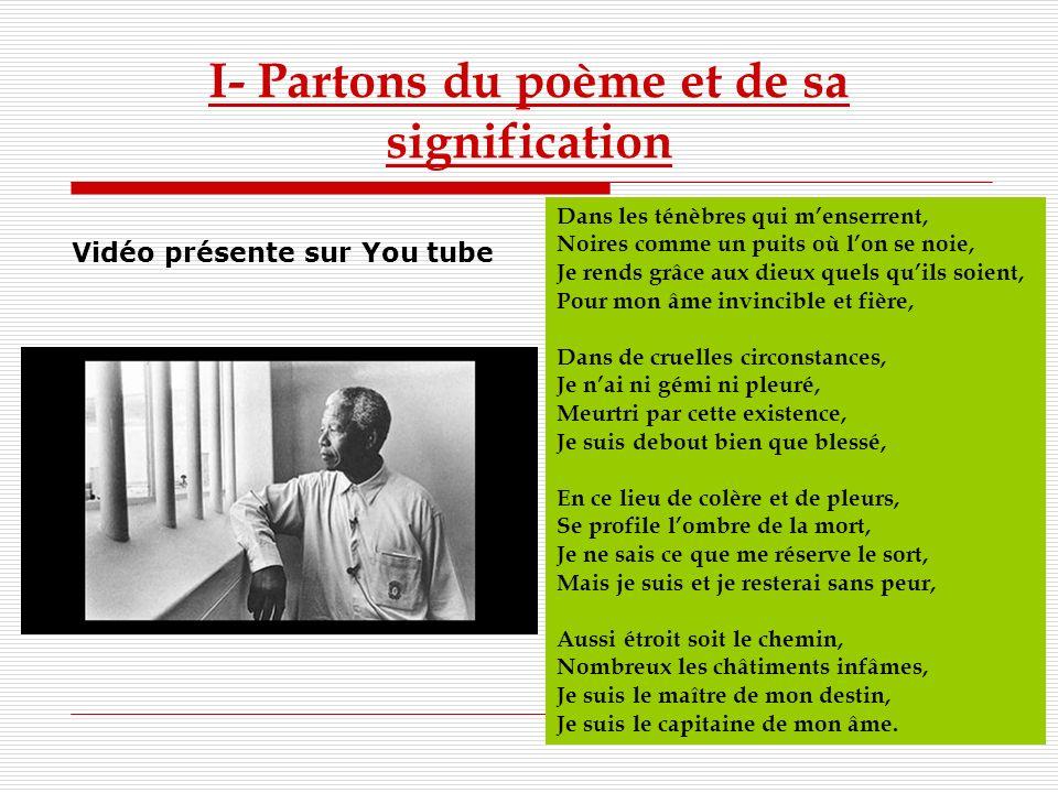 I- Partons du poème et de sa signification