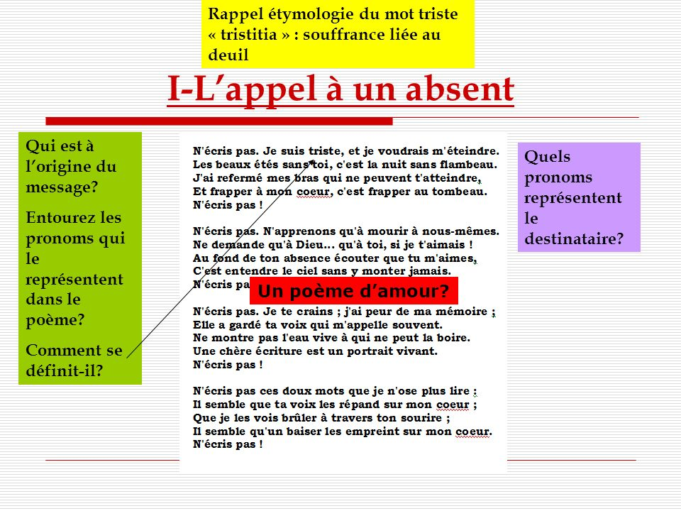 S quence sur la po sie lyrique et engag e ppt video for Etymologie du mot miroir