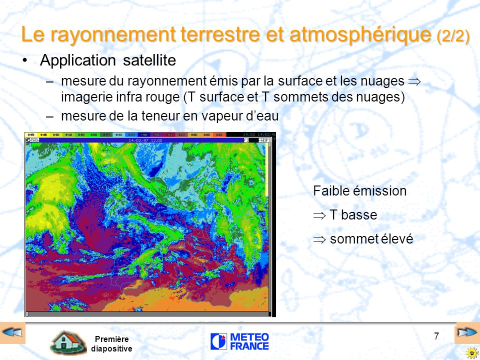 Le rayonnement terrestre et atmosphérique (2/2)