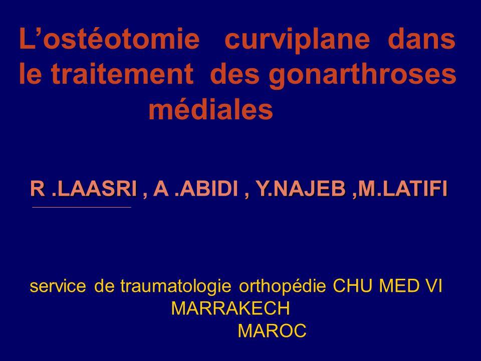 L'ostéotomie curviplane dans le traitement des gonarthroses médiales