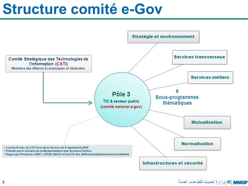 Structure comité e-Gov