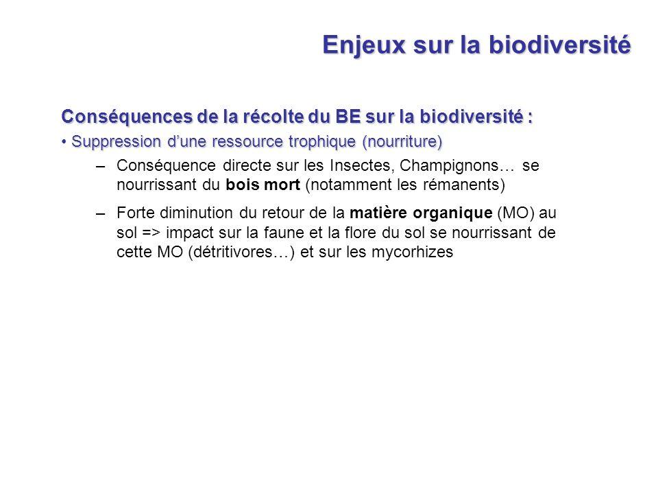 Enjeux sur la biodiversité