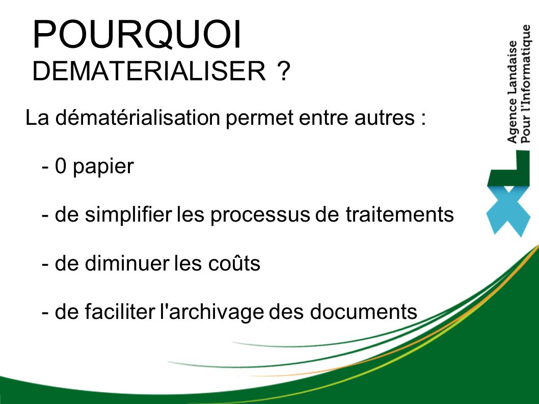 POURQUOI DEMATERIALISER