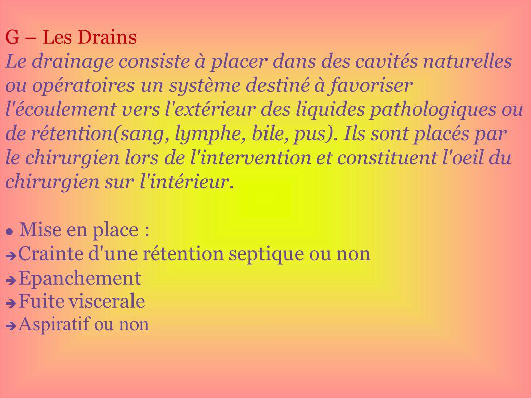 G – Les Drains