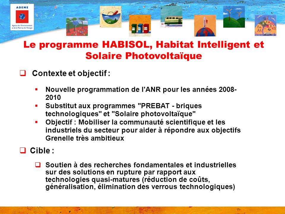 Le programme HABISOL, Habitat Intelligent et Solaire Photovoltaïque