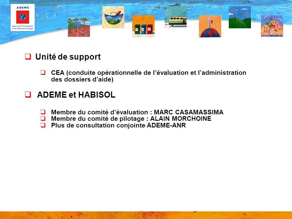 Unité de support ADEME et HABISOL