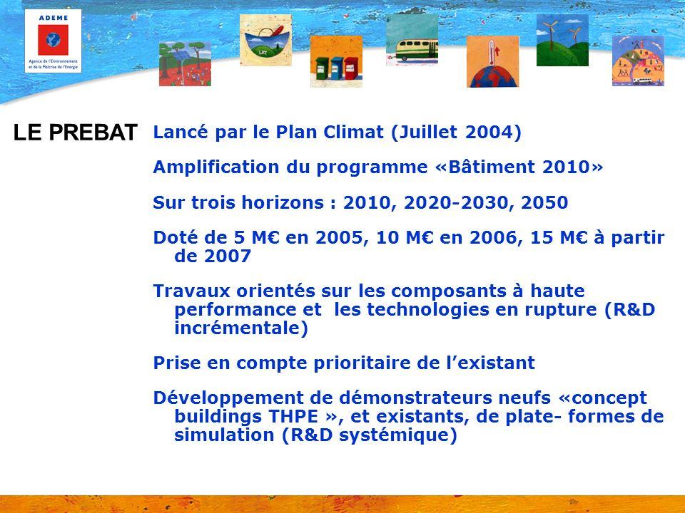 LE PREBAT Lancé par le Plan Climat (Juillet 2004)