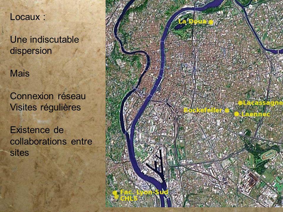 Locaux : Une indiscutable. dispersion. Mais. Connexion réseau.