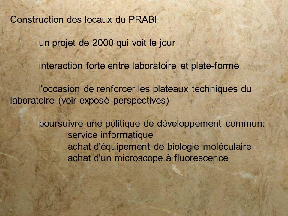 Construction des locaux du PRABI
