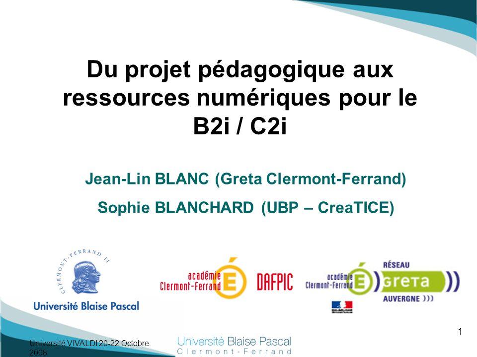 Du projet pédagogique aux ressources numériques pour le B2i / C2i