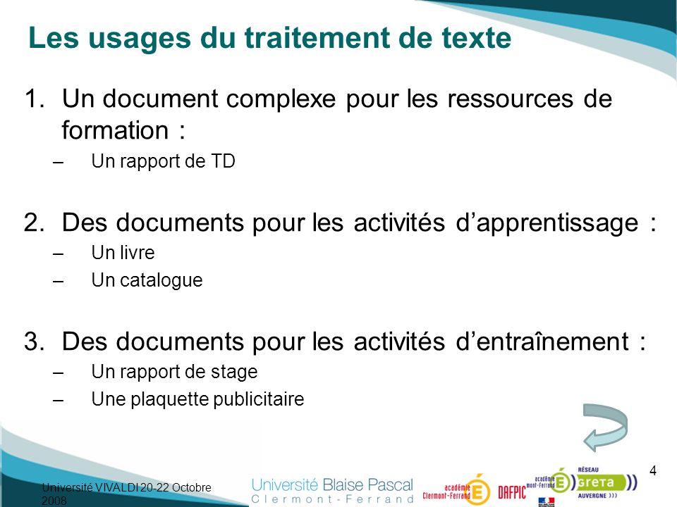 Les usages du traitement de texte