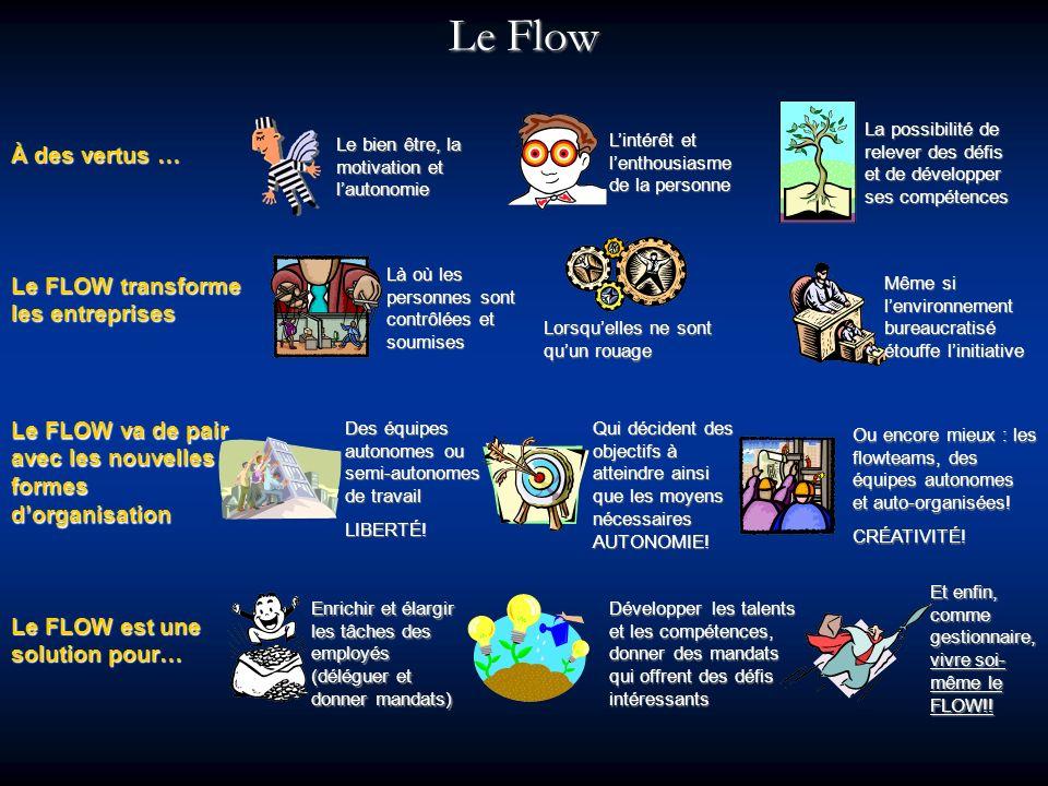 Le Flow À des vertus … Le FLOW transforme les entreprises