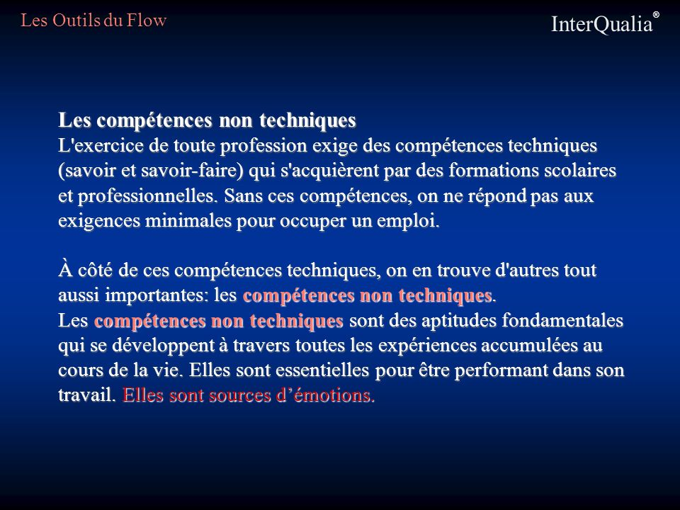 InterQualia® Les compétences non techniques