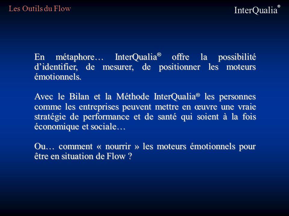 Les Outils du Flow InterQualia® En métaphore… InterQualia® offre la possibilité d'identifier, de mesurer, de positionner les moteurs émotionnels.