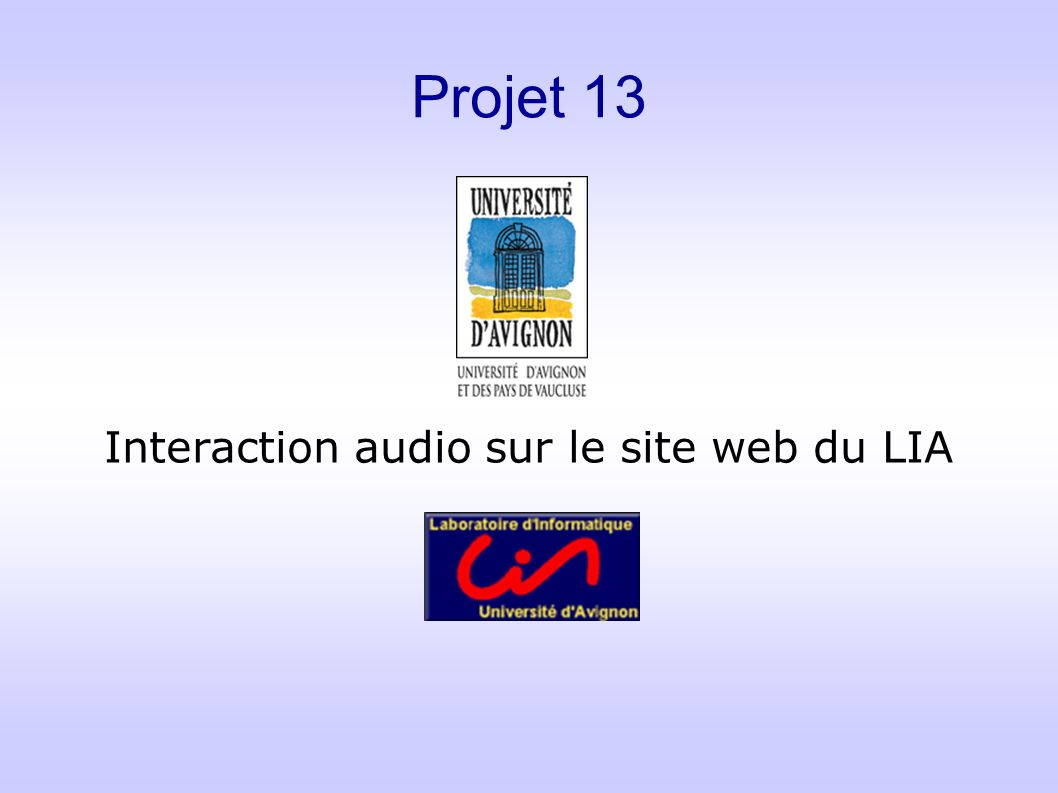 Interaction audio sur le site web du LIA