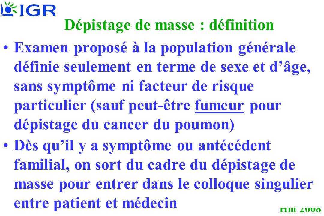 Dépistage de masse : définition
