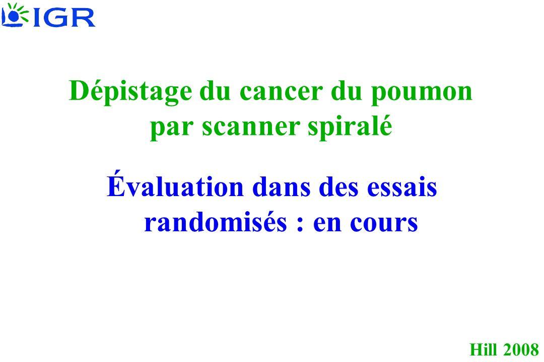 Dépistage du cancer du poumon par scanner spiralé