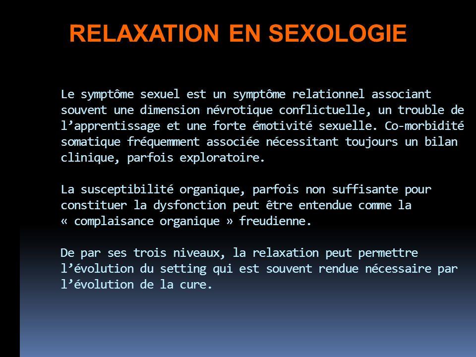 RELAXATION EN SEXOLOGIE