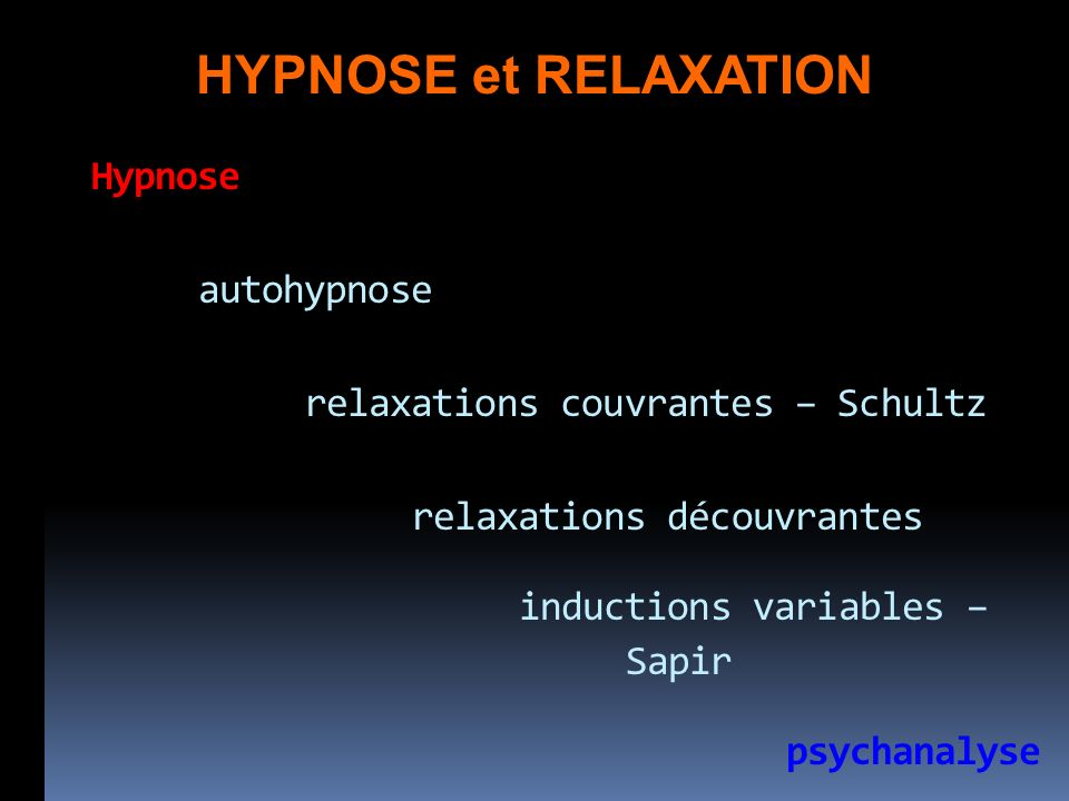 HYPNOSE et RELAXATION