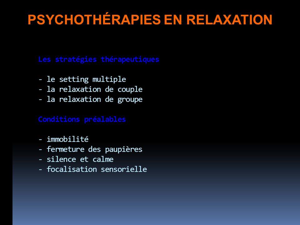PSYCHOTHÉRAPIES EN RELAXATION