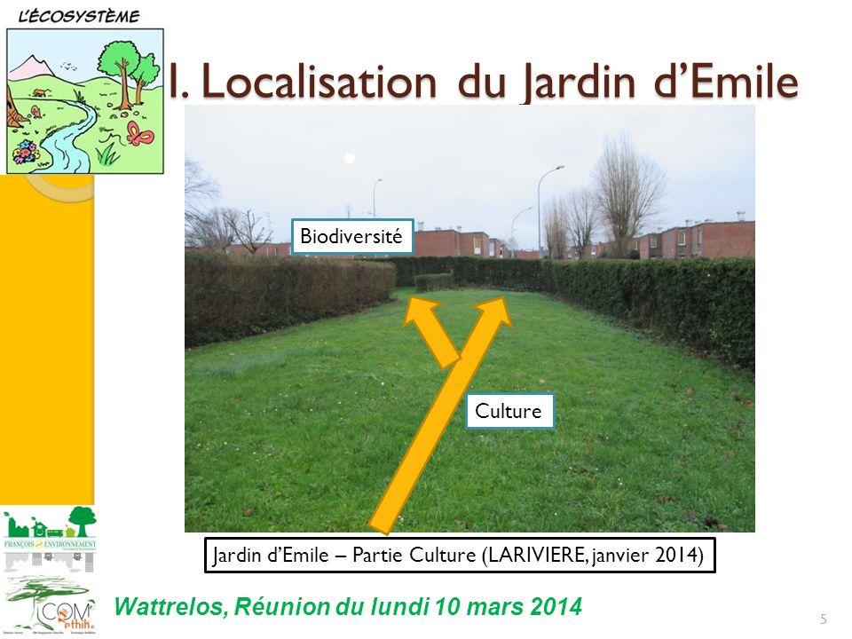 I. Localisation du Jardin d'Emile