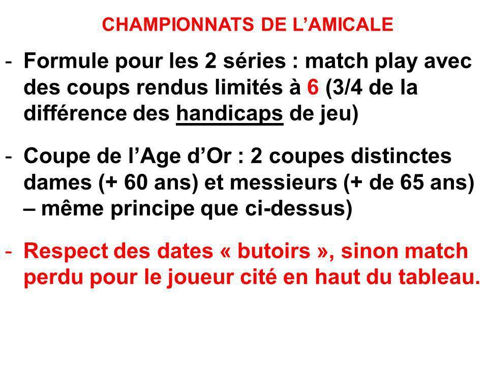 CHAMPIONNATS DE L'AMICALE